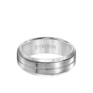 Triton Grey Titanium Wedding Band