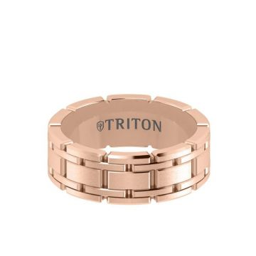 Triton Rose 14K Gold Wedding Band