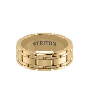 Triton Yellow 14K Gold Wedding Band