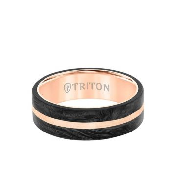 Triton Two-Tone 14K Gold Wedding Band