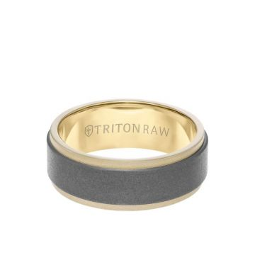 Triton Two-Tone 18K Gold Wedding Band