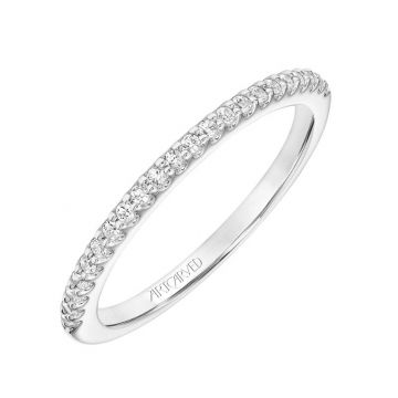 Art Carved 14k White Gold Elana Stackable Wedding Band