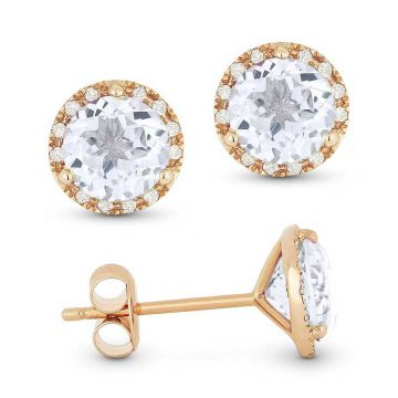 Madison L 14k Rose Gold Morganite Earring