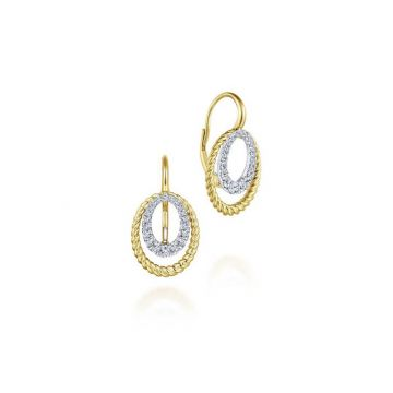 Gabriel & Co. 14k Two Tone Hampton Diamond Drop Earrings