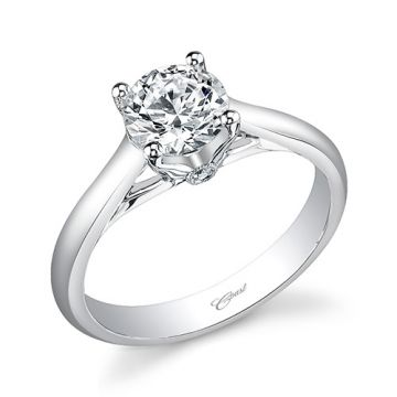 14k White Gold Coast Diamond 0.02ct Diamond Semi-Mount Engagement Ring