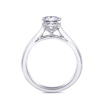 14k White Gold Coast Diamond 0.06ct Diamond Semi-Mount Engagement Ring