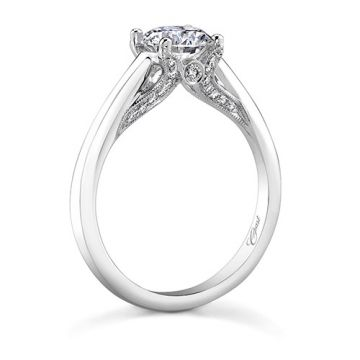 14k White Gold Coast Diamond 0.15ct Diamond Semi-Mount Engagement Ring