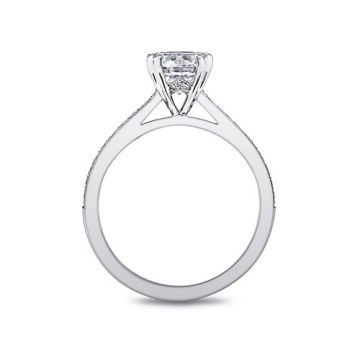 14k White Gold Coast Diamond 0.19ct Diamond Semi-Mount Fine Pave Milgrain Engagement Ring