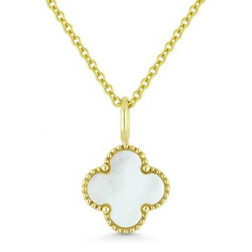 Madison L 14k Yellow Gold Mother of Pearl Pendant