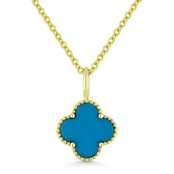 Madison L 14k Yellow Gold Turquoise Pendant