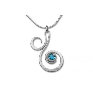 Ed Levin Sterling Silver Gemstone Pendant