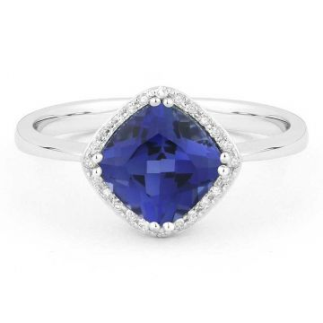 Madison L 14k White Gold Sapphire Ring