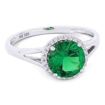 Madison L 14k White Gold Emerald Ring