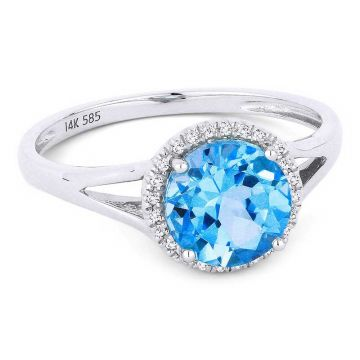 Madison L 14k White Gold London Blue Ring