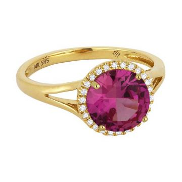 Madison L 14k Rose Gold Pink Sapphire Ring