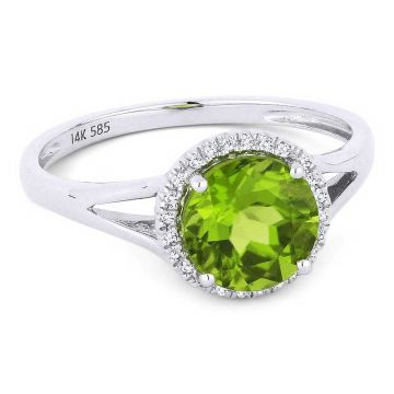 Madison L 14k White Gold Peridot Ring