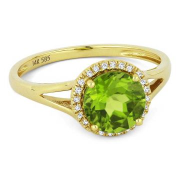 Madison L 14k Yellow Gold Peridot Ring