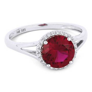 Madison L 14k White Gold Ruby Ring