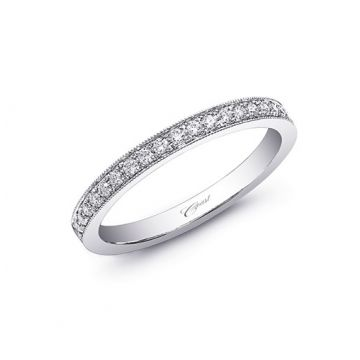 Coast 14k White Gold 0.22ct Diamond Wedding Band