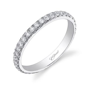Coast 14k White Gold 0.64ct Diamond Wedding Band
