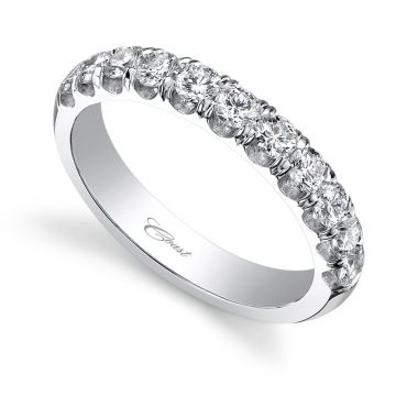 Coast 14k White Gold 0.75ct Diamond Wedding Band