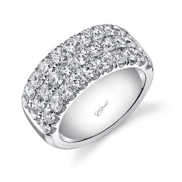 Coast 14k White Gold 2.3ct Diamond Wedding Band