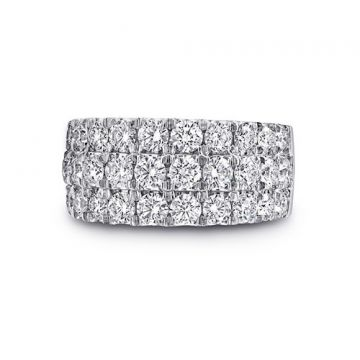 Coast 14k White Gold 2.56ct Diamond Wedding Band