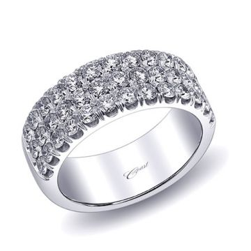 Coast 14k White Gold 1.43ct Diamond Wedding Band