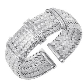 Charles Garnier Sterling Silver with CZ Glamour Bracelet