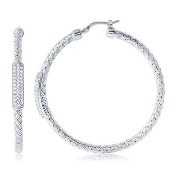 Charles Garnier Sterling Silver with CZ Nardini Ea45 Earrings