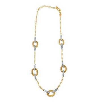 Charles Garnier Sterling Silver with CZ Qinta Necklace