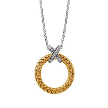Charles Garnier Sterling Silver with CZ Calixta Pd Pendant