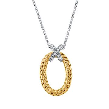 Charles Garnier Sterling Silver with CZ Iris Pd Pendant