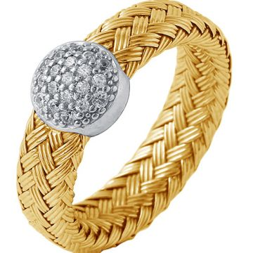 Charles Garnier Sterling Silver with CZ Rivoli Ring