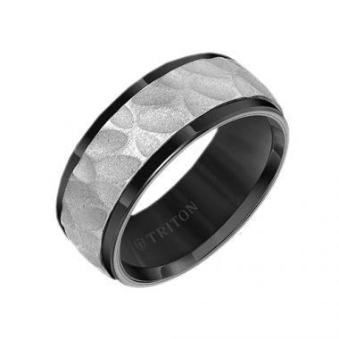 Triton Tungsten Carbide Black Wedding Band