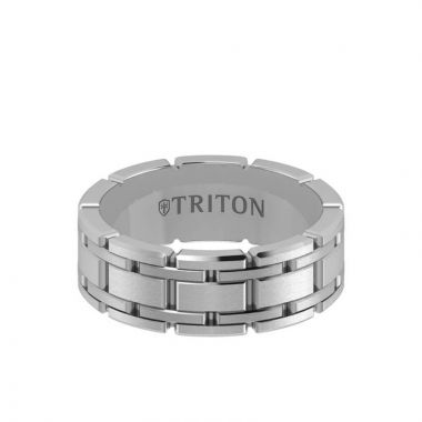 Triton White 14K Gold Wedding Band