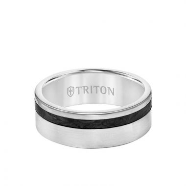 Triton Black Titanium Wedding Band