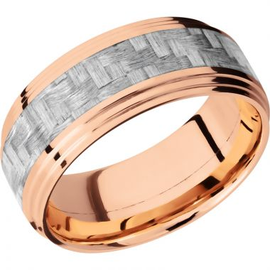 Lashbrook 14k Rose Gold 9mm Men's Wedding Band