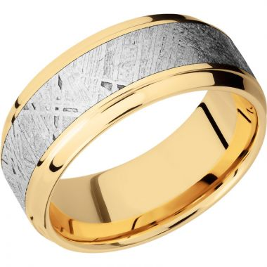 Lashbrook 14k Yellow Gold Meteorite 9mm Men's Wedding Band