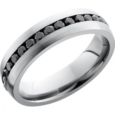 Lashbrook Titanium Diamond 6mm Men's Wedding Band