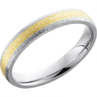 Lashbrook White & Yellow Cobalt Chrome 4mm Men's Wedding Band