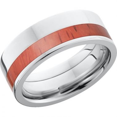 Lashbrook Cobalt Chrome Hardwood 9mm Men's Wedding Band