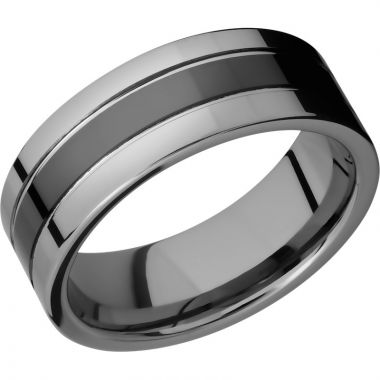 Lashbrook Black Tungsten 8mm Men's Wedding Band