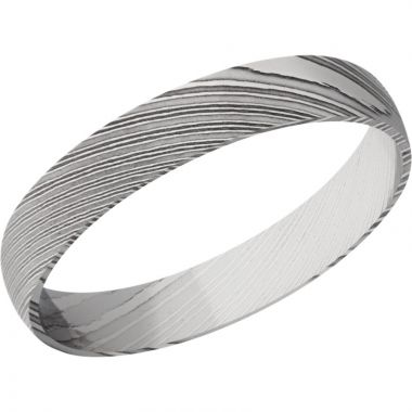 Lashbrook Black & White Damascus Steel 4mm Men's Wedding Band