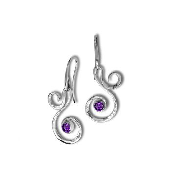 Ed Levin Sterling Silver Gemstone Earrings