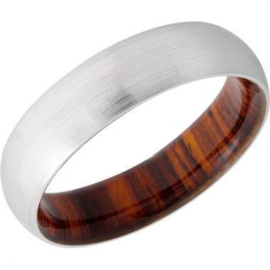 Lashbrook White Cobalt Chrome Hardwood 6mm Men's Wedding Band