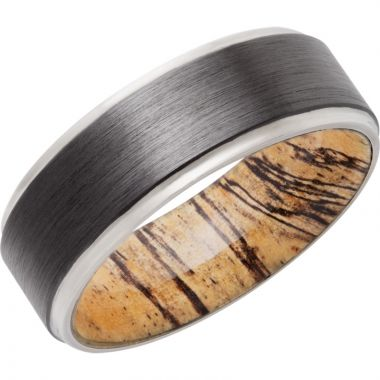 Lashbrook Black Zirconium Hardwood 8mm Men's Wedding Band