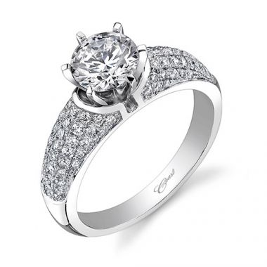 14k White Gold Coast Diamond 0.52ct Diamond Semi-Mount Engagement Ring