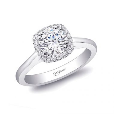 14k White Gold Coast Diamond 0.1ct Diamond Semi-Mount Fishtail Engagement Ring