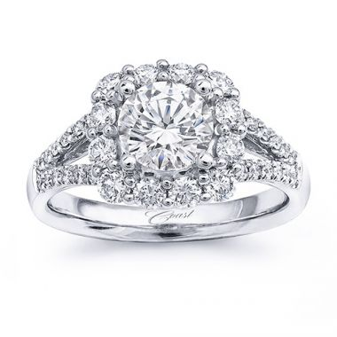 14k White Gold Coast Diamond 0.8ct Diamond Semi-Mount Fishtail Engagement Ring
